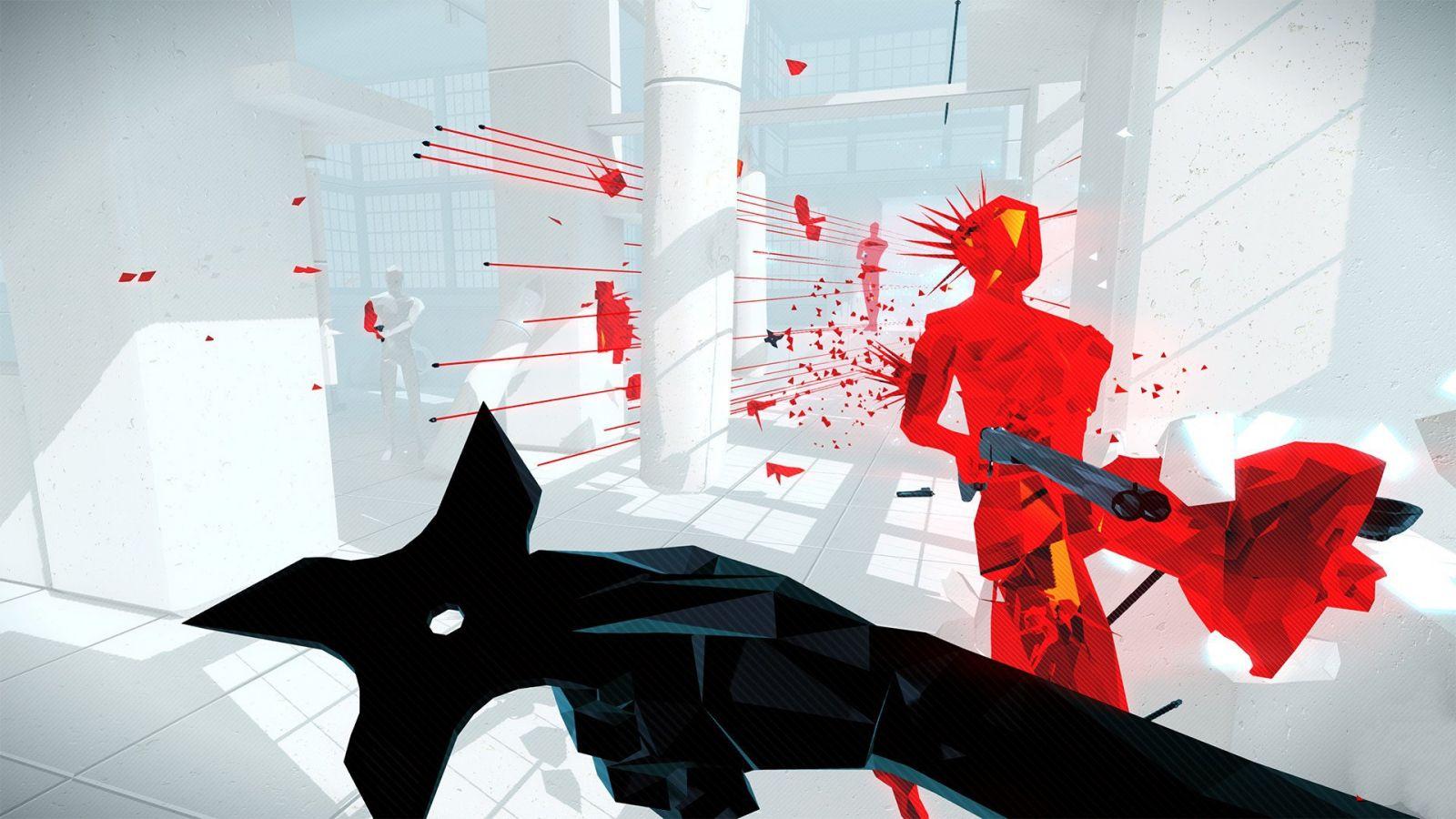 Фрагмент игры Superhot